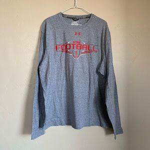 Under Armour Utah football long sleeve grey Tshirt